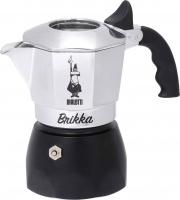 Bialetti 0006782 Macchinetta Caffè Polvere Moka 2 tazze AcciaioNero  BRIKKA