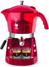 Bialetti Macchina Caffè Espresso Manuale cialdecapsule MOKONA ROSSA TRASP CF40