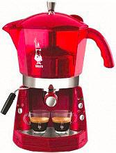 Bialetti 012400094 Macchina Caffè Espresso Manuale cialdecapsule MOKONA ROSSA TRASP CF40