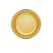 Bibo 4471595 Piatto Carta cm 19 Party Gold pz. 10