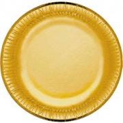 Bibo 4481595 Piatto Carta cm 23 Party Gold pz. 10