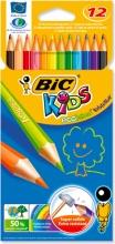 Bic 82902912 Confezione 12 Pastelli Bic Kids Evolution