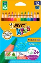 Bic 8297356 Confezione 12 Pastelli Bic Kids Evolution Tri
