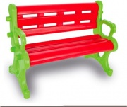 Biemme 2093-R Panchina da Giardino 3 posti in Plastica per Bambini