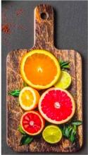 Bisetti 82201A Tagliere legno di faggio  32.5 x 16.5 cm decorazioni Agrumi
