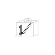 Bizzotto BG061070 Ganci obliqui per pannelli porta attrezzi 8 pezzi