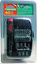 Black&Decker Set inserti punte avvitatore 40pz 1 caccaivite cricchetto A7062