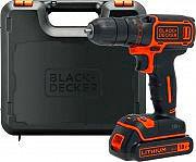 Black & Decker BDCDC18K-QW Trapano avvitatore a Batteria litio 18V + Valigetta BDCDC18K