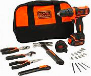 Black&Decker Trapano avvitatore a Batteria litio 10,8V 710W + Kit BDCDD12HTSA