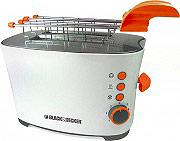 Black & Decker T700 Tostapane per Toast 2 Fette 650W 7 Livelli cottura Timer Funzione scongelamento