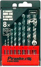 Black & Decker X56040 Punte per muro confezione 8 punte Piranha