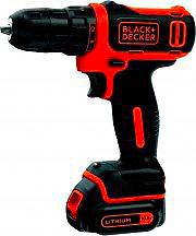 Black & Decker Trapano avvitatore a batteria litio 10,8V Ricaricabile BDCDD12K