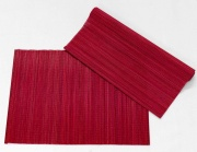 Blanco Raya DO2603 Runner Tavola in Bamboo Centrotavola 40x140 cm Red