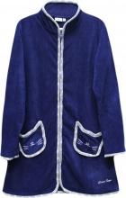 Blanco Raya PT161215-4B Vestaglia Donna Invernale Micropile Taglia S Blu