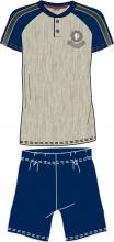 Blanco Raya S8M012 Pigiama Uomo Cotone 100% Maglietta e Pantaloncino Tg. XL Grigio