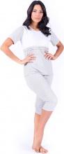 Blanco Raya S8W006 Pigiama Donna Cotone Maglietta e Pantalone 34 Tg.  L GrigioBianco