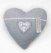 Blanco Raya SD172045 Cuscino Arredo imbottito a forma di cuore 40x40 cm Grigio
