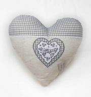 Blanco Raya SD175055 Cuscino Arredo imbottito a forma di cuore 40x40 cm Grigio