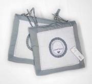 Blanco Raya SD2018-1 Coppia di cuscini coprisedie imbottiti 42x42 cm Grigio