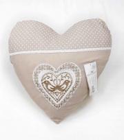 Blanco Raya SD2018-6 Cuscino Arredo imbottito a forma di cuore 42x42 cm Ecrù