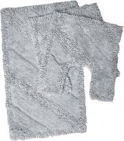 Bluesì GAT354-GRIG Tappeto bagno Set 3 pezzi in Cotone Tinta unita colore Grigio - 28679