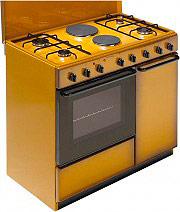 Bompani BI941EBL Cucina a Gas 4 Fuochi 2 Piastre Forno Elettrico Grill 90x60 cm