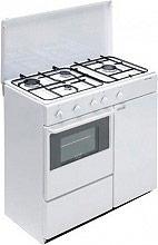 Bompani Cucina a Gas 4 Fuochi Forno a Gas 85x45 cm Bianco - BI960YAL