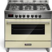 Bompani BO684DLN Cucina a Gas con Forno elettrico 5 Fuochi 90x60 Classe A Crema