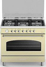 Bompani BO684MB Cucina a Gas 5 Fuochi Forno Elettrico Ventilato 90x60 cm N