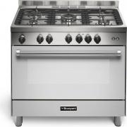 Bompani BO693DJ Cucina a Gas 4 Fuochi con Forno a Gas Grill 90x60 cm Inox N
