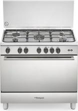 Bompani BO693VD Cucina a Gas 5 Fuochi con Forno a Gas 90x60 cm Coperchio Inox N
