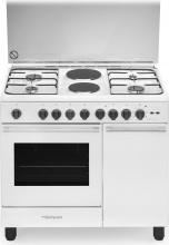 Bompani BO940EBL Cucina a Gas con Forno elettrico 4+2 Fuochi 90x60 cm Bianco