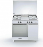 Bompani BO953EEL Cucina a Gas con Forno a Gas 4 Fuochi 90x60 cm Inox