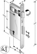 Bonaiti 48 040 035 ME Serratura Patent mm 8x90 E35 Bt Bronzata Gb