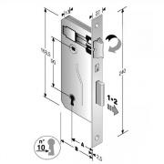 Bonaiti 48 040 050 MC Serratura Patent mm 8x90 E50 Bq Bronzata Gb