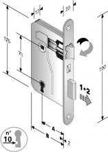 Bonaiti 48 042 050 ME Serratura Patent mm 8x70 E50 Bt Bronzata Gb