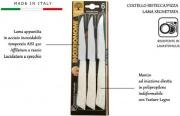 Bonomi 62006S Set coltelli tavola 6 pezzi Acciaio Inox 11 cm Bianco