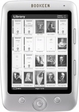 "Bookeen BC500GREPUB Lettore eBook Reader 1 GB 5"" Linux Bianco  Cybook Opus White"