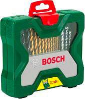 Bosch Set punte Trapano 30 pezzi Metallo Muro Legno X-30 TITANIUM 2.607.019.324