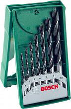 Bosch 2607019580 Set Punte Trapano per Legno 7 Pz Misure 3  10 mm