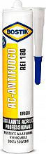 BOSTIK Antifuoco Silicone Sigillante Elastico Plastico  cartuccia 300 ml REI 180