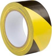 Boston 121938 Nastro adesivo giallo nero PVC 50 mm Rotolo da 33 m  Cf 12 Pz