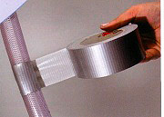 Boston Nastro Adesivo Telato Alluminio Extra forte 50 mm x 25 Metri Americano