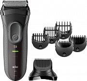 Braun 3000BT Rasoio Elettrico Barba Impermeabile Ricaricabile  Serie3 Shave&Style