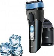 Braun Rasoio elettrico Barba Ricaricabile + Base di pulizia CoolTec CT2cc