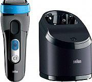 Braun CT2cc Rasoio elettrico Barba Ricaricabile + Base di pulizia CoolTec