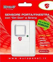 Bravo Antifurto casa Allarme Sensore Magnetico Finestre Porte Din Don 92902950