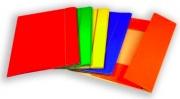 Brefiocart 0208805AR Confezione 10 Cartelle 3 Lembi con Elastico Arancio