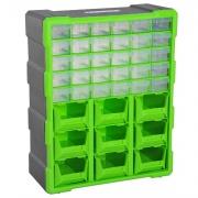 Brügel B400D0 Cassettiera Box Per Accessori Minuteria Verde 38x16x47.5 cm