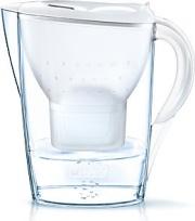 Brita 1024045 Caraffa Filtrante 2,4 litri MAXTRA + 3 filtri  Marella White